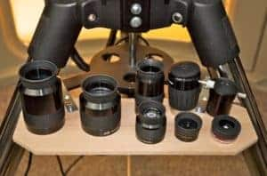 eyepieces on a tray