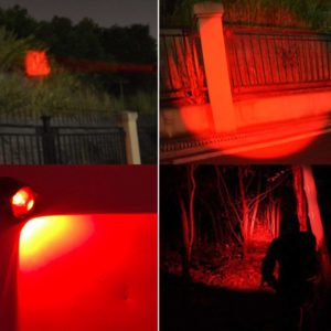 RED LED Flashlight with out tape